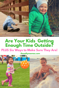 Are your kids getting enough time outside each day? Find out here, along with a list of great ways to play outside with your kids!