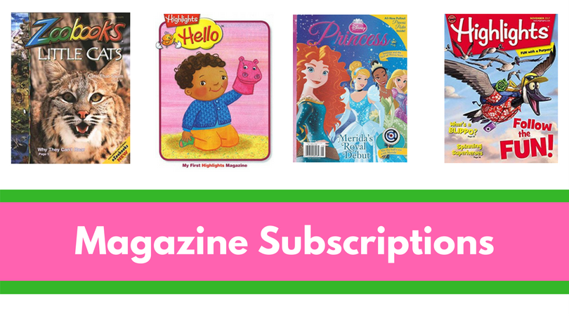Magazine Subscriptions can make incredible gifts for the child who already has EVERYTHING.