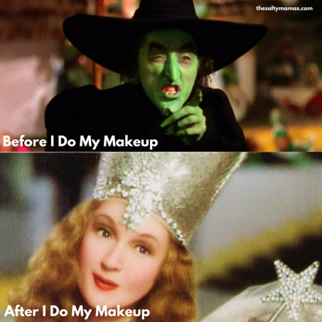 How a Little Bit of Drug Store Makeup Can Make a HUGE Difference! From thesaltymamas.com