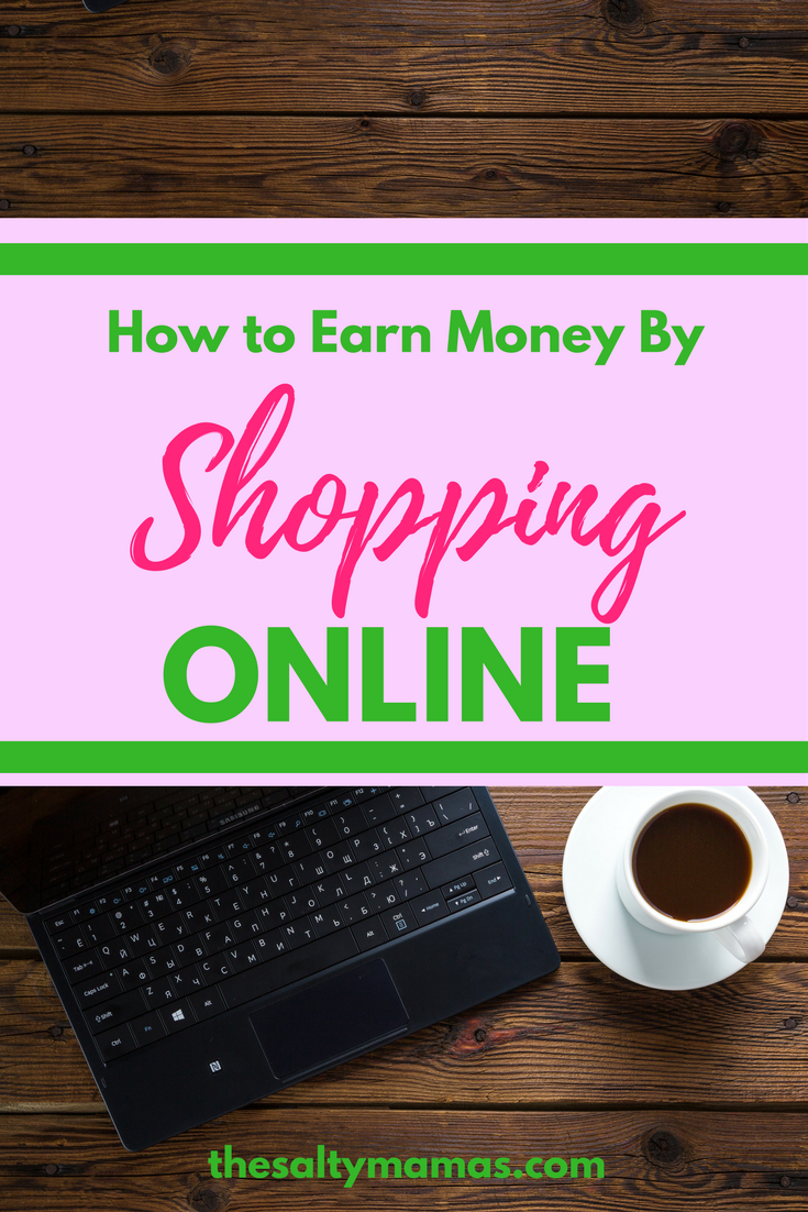 The EASIEST way to earn money by shopping online. Read more about one of our favorite microhustles at thesaltymamas.com #ebates #onlineshopping #earnmoneyfromhome